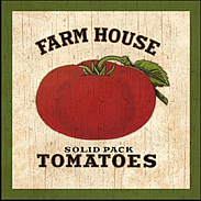 country tomatoes-wall plaque