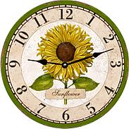 Sunflower Country Kitchen Clock